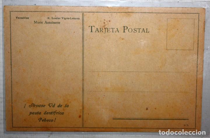 Postales: POSTAL PASTA DENTIFRICA PEBECO-MARIE ANTOINETTE. E. LOUISE VIGEÉ-LEBRUN. SIN CIRCULAR - Foto 2 - 167112516