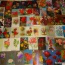 Postales: LOTE DE 73 POSTALES ANTIGUAS DE FLORES DEL MUNDO. FLOR ROSAS. 350 GR. Lote 168002076