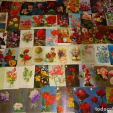 Postales: LOTE DE 251 POSTALES ANTIGUAS DE FLORES DEL MUNDO. FLOR ROSAS. 800 GR. Lote 168002076