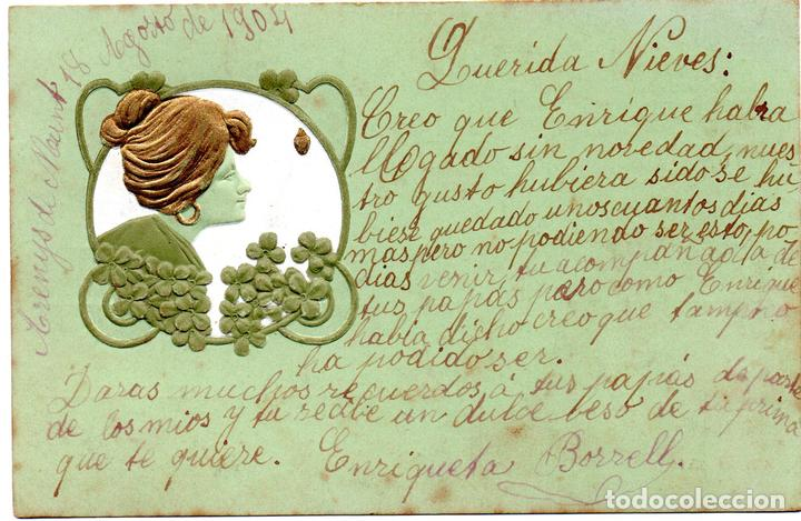 PS8185 POSTAL MODERNISTA. B.R.W. CIRCULADA. 1904 (Postales - Postales Temáticas - Estilo)