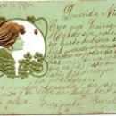 Postales: PS8185 POSTAL MODERNISTA. B.R.W. CIRCULADA. 1904. Lote 168678324