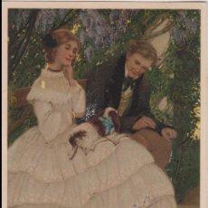 Postales: ANTIGUA POSTAL MODERNISTA, ENAMORADOS - M.M.VIENNE Nº 291 - CIRCULADA 1908. Lote 171976489