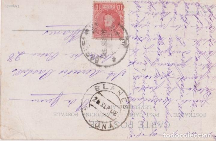 Postales: ANTIGUA POSTAL MODERNISTA, CORTEJO - M.M.VIENNE Nº 378 - CIRCULADA 1908 - Foto 2 - 171976642