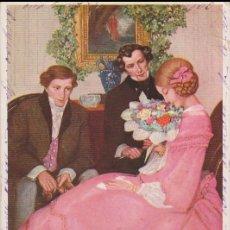 Postales: ANTIGUA POSTAL MODERNISTA, CORTEJO - M.M.VIENNE Nº 378 - CIRCULADA 1908. Lote 171976642