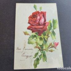 Postales: ROSAS EN RELIEVE POSTAL. Lote 175088183