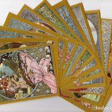 Postales: SERIE MODERNISTA LOTE DE 12 POSTALES. MESES DEL AÑO (1 REPETIDA, MES DE MARZO) -EDICIONES FISA-. Lote 175668957