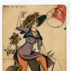 Postales: TARJETA POSTAL MODA (1911). Lote 181425287
