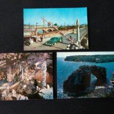 Postales: LOTE 3 TARJETAS POSTALES DE MALLORCA E IRÚN AÑOS 60. Lote 182159757