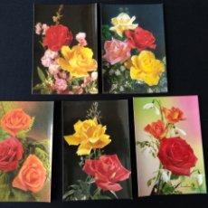 Postales: LOTE 5 POSTALES ROSAS CYZ. Lote 182195216