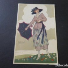Postales: MUJER ELEGANTE POSTAL ILUSTRADA COLOMBO ILUSTRADOR ART DECO 1927. Lote 183696952