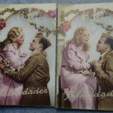 Postales: POSTALES ANTIGUAS ROMANTICSS. Lote 183738693