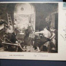 Postales: LAS HILANDERAS VELÁZQUEZ 1903 CIRCULADA. Lote 184282622