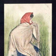 Postales: POSTAL MODERNISTA ILUSTRADA POR RAMON CASAS. MUJER. (ED.THOMAS). Lote 185877240