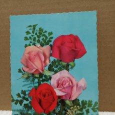 Postales: ANTIGUA POSTAL FLORES. Lote 187466410