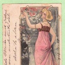 Postales: AD165 BONITA MUJER ESTILO ARTE NUEVO POSTAL MODERNISTA. Lote 188422408