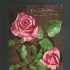 Postales: POSTAL SIN CIRCULAR - FLORES - ROSAS - EDITA KRUGER 900/179. Lote 191001187
