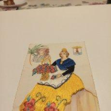 Postales: ALICANTE POSTAL ANTIGUA BORDADA. Lote 191413677