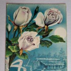 Postales: POSTAL ROSAS BLANCAS Y FLAMENCOS LUNA ILUSTRA VIVES ESCRITA AÑO 1964 C Y Z. Lote 191474822