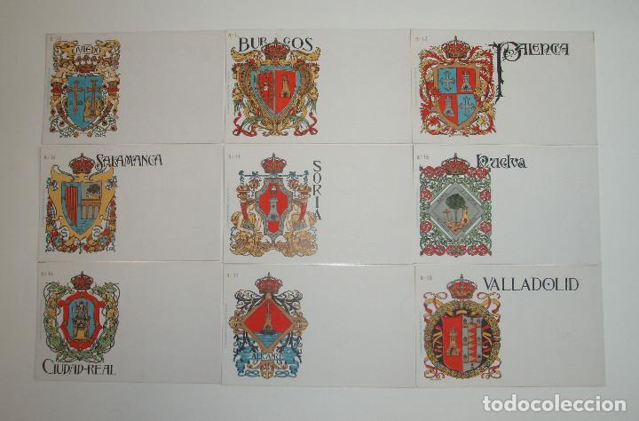 Postales: 50 POSTALES. ESCUDOS ESPAÑOLES. COLECCIÓN COMPLETA. HERMENEGILDO MIRALLES. BARCELONA. AÑO 1900. - Foto 3 - 191798997