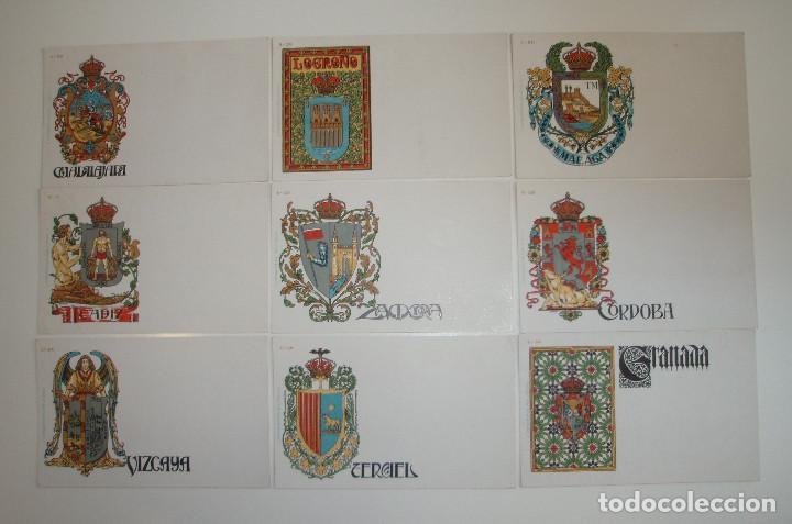 Postales: 50 POSTALES. ESCUDOS ESPAÑOLES. COLECCIÓN COMPLETA. HERMENEGILDO MIRALLES. BARCELONA. AÑO 1900. - Foto 5 - 191798997