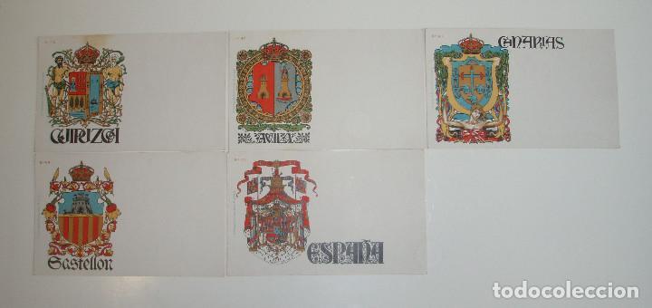 Postales: 50 POSTALES. ESCUDOS ESPAÑOLES. COLECCIÓN COMPLETA. HERMENEGILDO MIRALLES. BARCELONA. AÑO 1900. - Foto 7 - 191798997