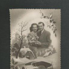 Postales: POSTAL CIRCULADA ROMANTICA EDITA D 1504. Lote 195188425