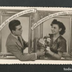 Postales: POSTAL CIRCULADA ROMANTICA EDITA D 1815. Lote 195188508