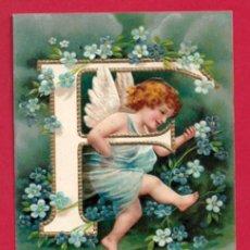 Postales: AE958 ANGEL ANGELITO ABECEDARIO ALFABETO LETRA F CON FLORES POSTAL EN RELIEVE GOFRADA. Lote 195526888