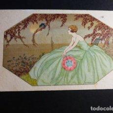 Postales: MUJER ELEGANTE POSTAL ART DECÓ. Lote 195881825