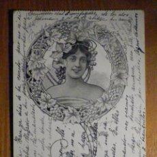 Postales: POSTAL - UNIÓN POSTAL UNIVERSAL - ESPAÑA - CIRCULADA EN AÑO 1904. Lote 196143135