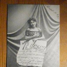 Postales: POSTAL HAUSER Y MENET TE DESEA - UNIÓN POSTAL UNIVERSAL - ESPAÑA - CIRCULADA - LUGO AÑO 1901. Lote 196143462