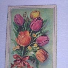 Postales: POSTAL FLORES TULIPANES ZSOLT ESCRITA. Lote 199171260