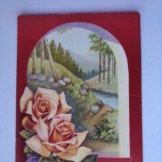 Postales: POSTAL ROSAS Y PAISAJE ILUSTRA VIVES ESCRITA 1962 CYZ. Lote 262726470