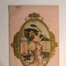 Postales: POSTAL DE ESTILO LIBERTY. SEÑORITA DANZANTE. EUROPA (A.1906) ESCRITA.... Lote 210061160