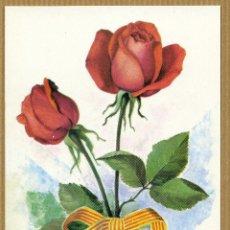 Postales: POSTAL FLORES - ROSA DE SANT JORDI. Lote 213865003