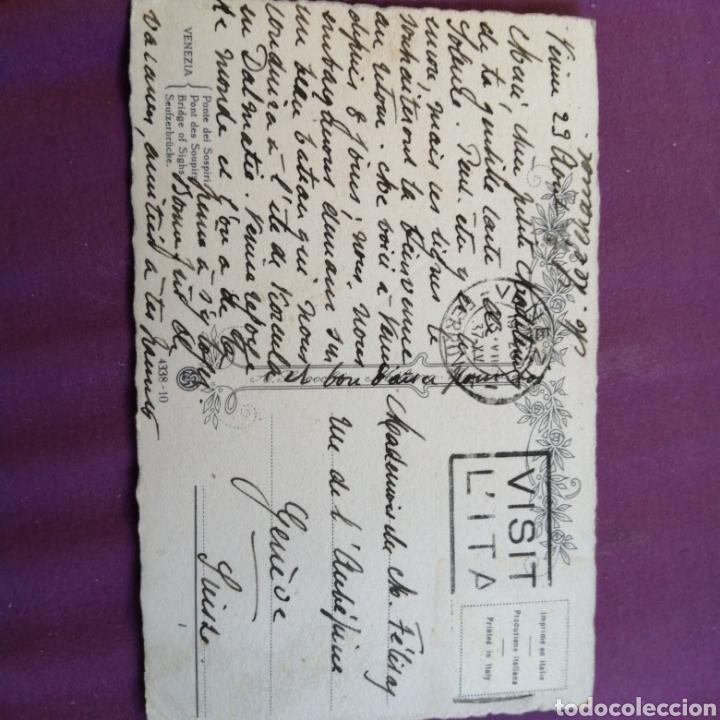 Postales: Venecia puente del Suspiro 1937 - Foto 2 - 217230708