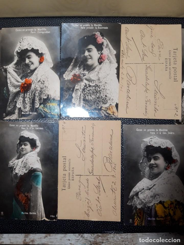 Postales: Postales Antiguas 1906 - Foto 3 - 219403162