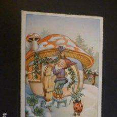 Postales: GNOMO EN SU CASA POSTAL FELICITACION NAVIDAD. Lote 224259506