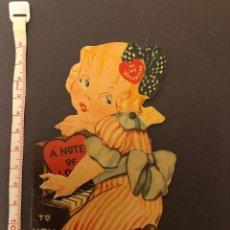 Cartes Postales: POSTAL DE SANT VALENTIN TROQUELADA Y PARTE MOVIL. AÑOS 30-40. MADE IN USA. Lote 227933240