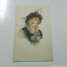 Postales: PRECIOSA POSTAL MODERNISTA - EDWARD GROSS - AMERICAN GIRL. Lote 228041505