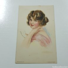 Postales: POSTAL MODERNISTA - EDWARD GROSS - AMERICAN GIRL. Lote 228043100