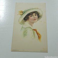 Postales: POSTAL MODERNISTA - EDWARD GROSS - AMERICAN GIRL. Lote 228043665