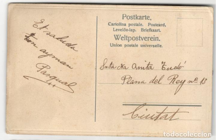 Postales: POSTAL TROQUELADA - ROSA - 1908 - PINTADA. - Foto 2 - 229611630