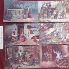 Postais: DON QUIJOTE DE LA MANCHA. 6 POSTALES ANTIGUAS. EDITORIAL AMBOS MUNDOS. Lote 231526835