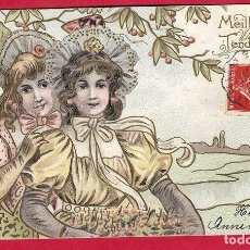 Postales: A631 MUJERES BAJO UNA RAMA DE CEREZO POSTAL EN RELIEVE 14/11/1907. Lote 233900965