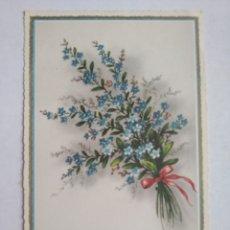 Postales: POSTAL ALEMANIA FLORES AZULES ESCRITA 1962. Lote 236149120