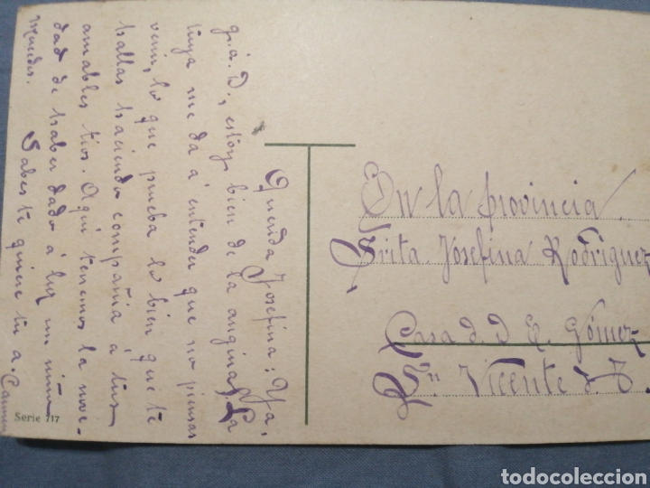 Postales: Postal flores circulada 1909 - Foto 2 - 239717910