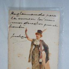 Cartes Postales: SEÑORA CON CHISTERA . 1901. Lote 240077325