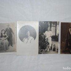 Postales: LOTE DE 4 POSTALES MUY ANTIGUAS , 1927. Lote 240559040