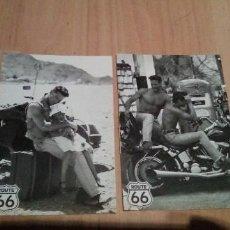 Postales: LOTE DE 2 PSOTALES VERKERKE DE ROUTE 66. Lote 243883585